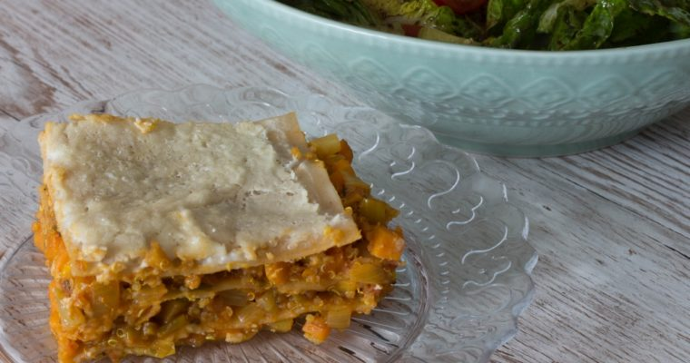 Quinoa-Gemüse-Lasagne mit Cashew-Bechamel