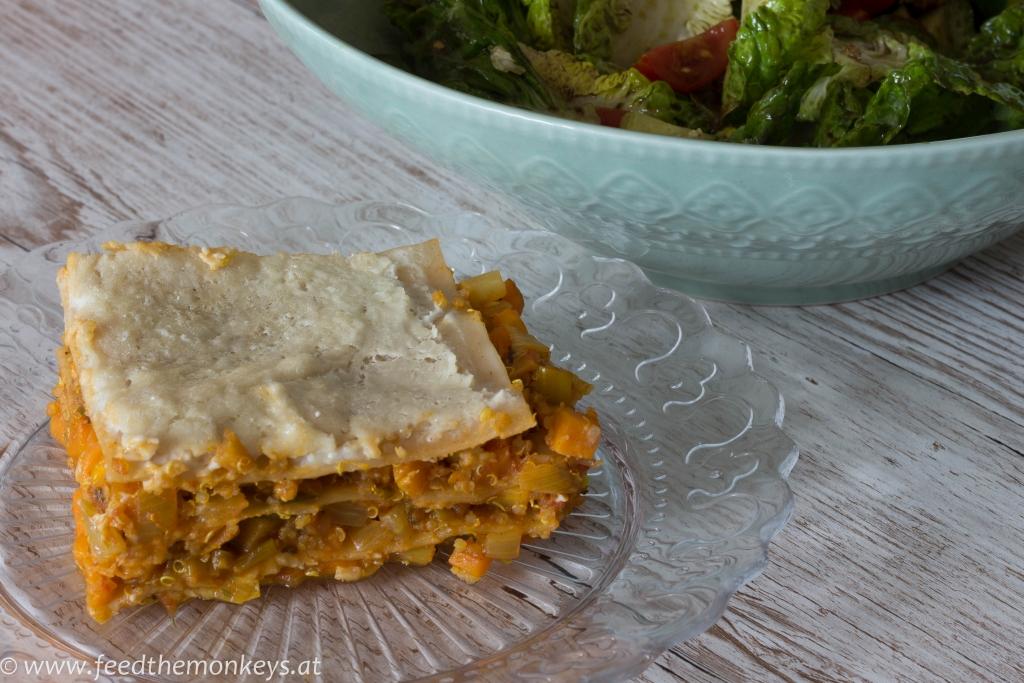 Quinoa-Gemüse-Lasagne
